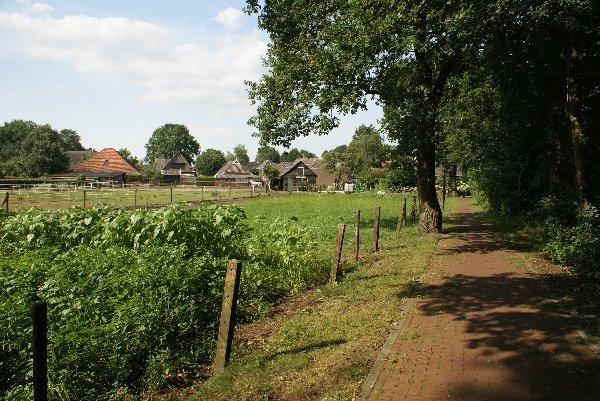 Fietspad naast de boerdereij