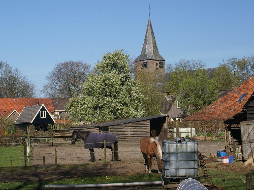 Velden naast de boerderij