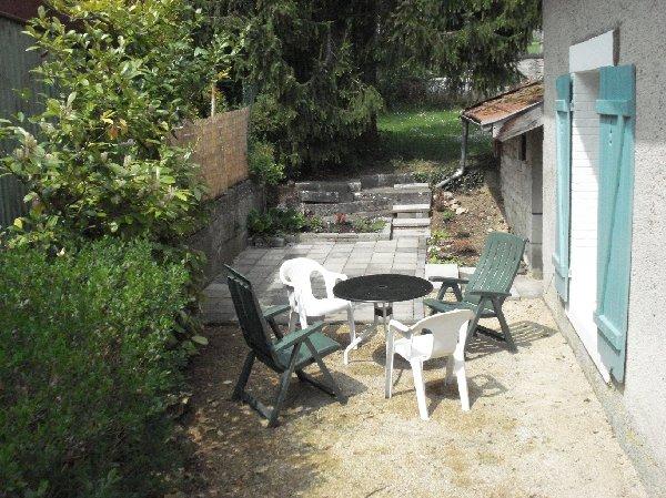 prive tuin achter het huis