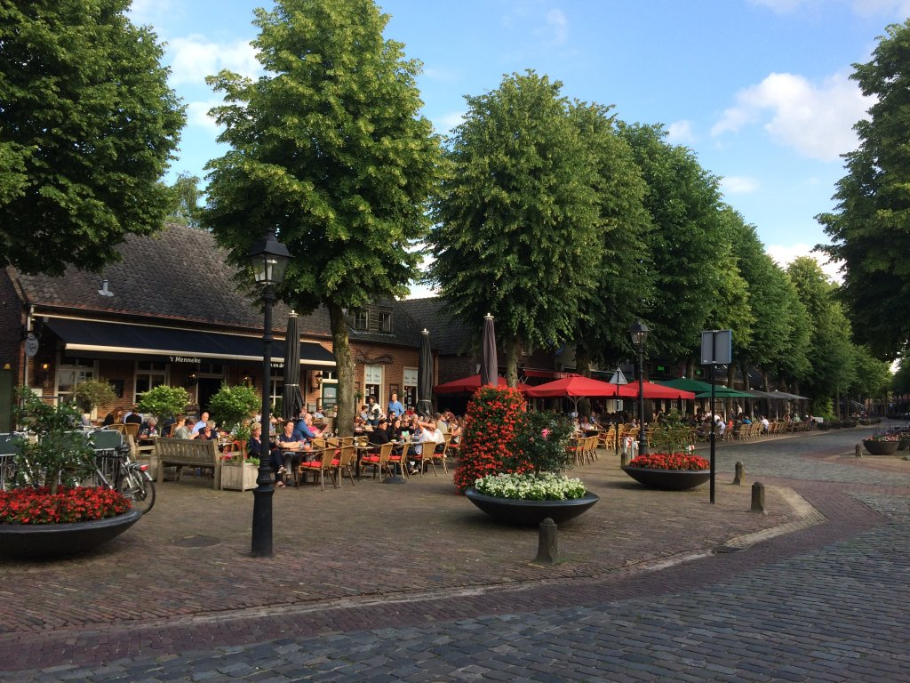 The centre of Eersel, with many terraces and good restaurants